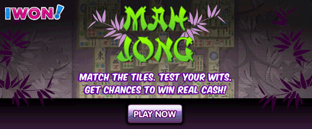 Play Mah Jong on the IWON Games Toolbar - Download here